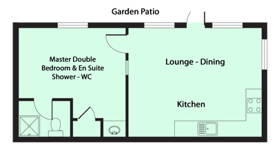 The Gamekeeper's Floor Plan